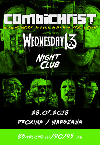 COMBICHRIST + Wednesday 13, Night Club