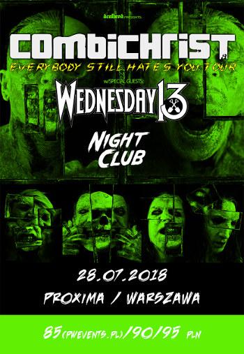 COMBICHRIST + Wednesday 13, Night Club